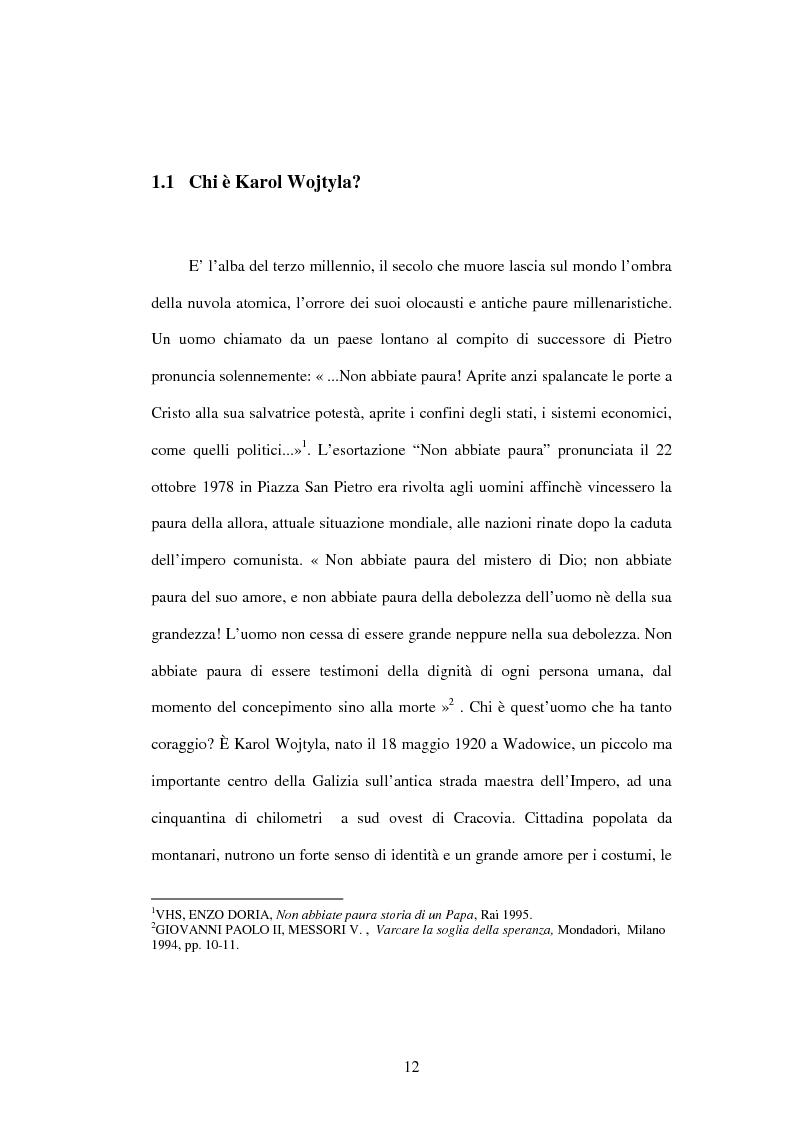 Anteprima della tesi: Etica e verità nelle encicliche di Karol Wojtyla, Pagina 5