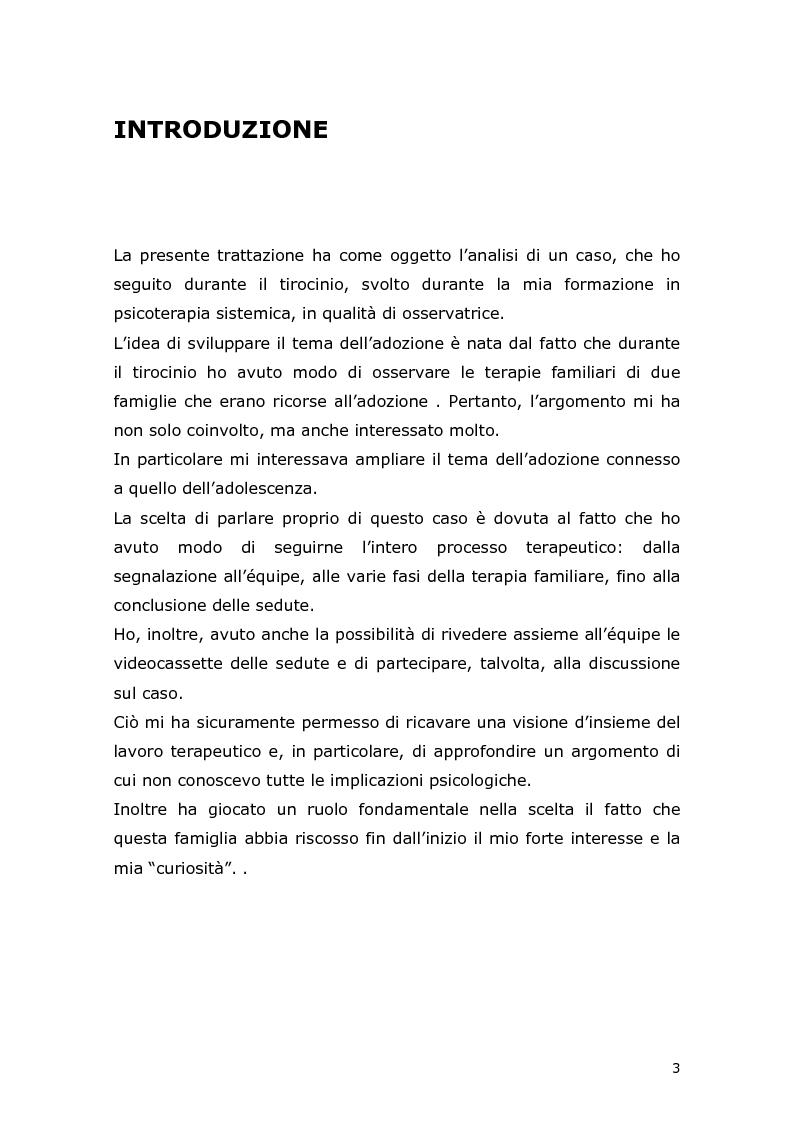 Anteprima della tesi: Com'è difficile crescere! Analisi di un caso di un'adolescente adottata, Pagina 1