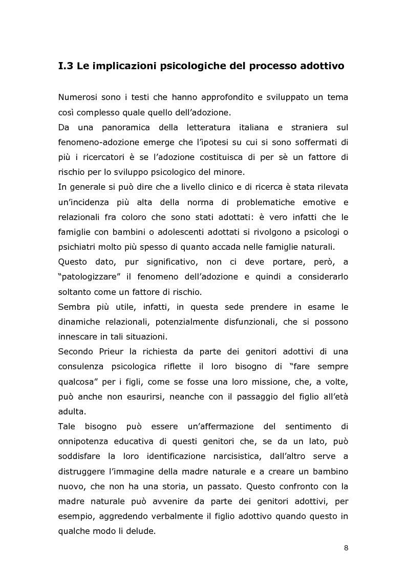 Anteprima della tesi: Com'è difficile crescere! Analisi di un caso di un'adolescente adottata, Pagina 6