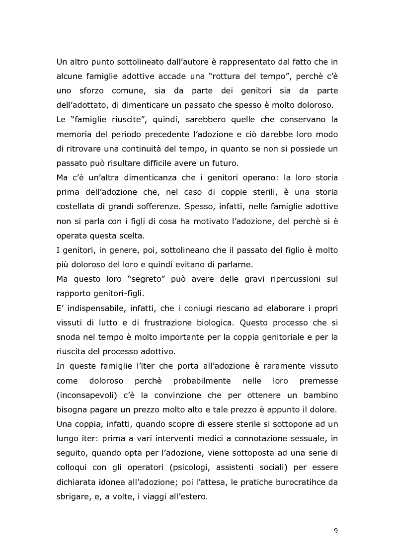 Anteprima della tesi: Com'è difficile crescere! Analisi di un caso di un'adolescente adottata, Pagina 7