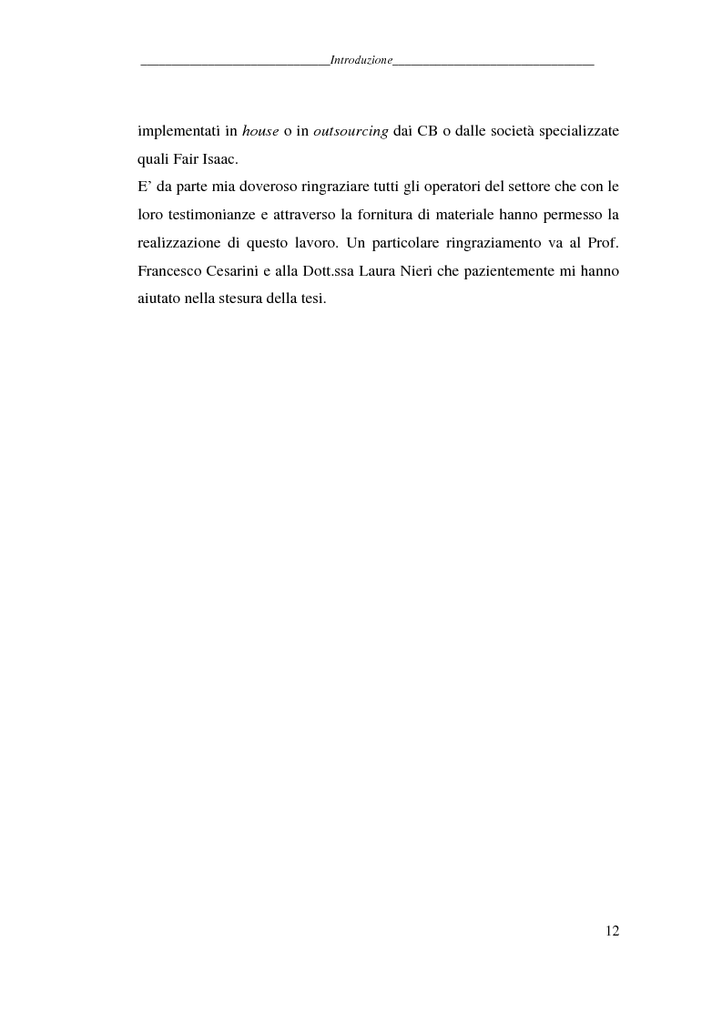 Anteprima della tesi: L'attività dei credit bureaus e la valutazione del rischio nel credito al consumo, Pagina 7