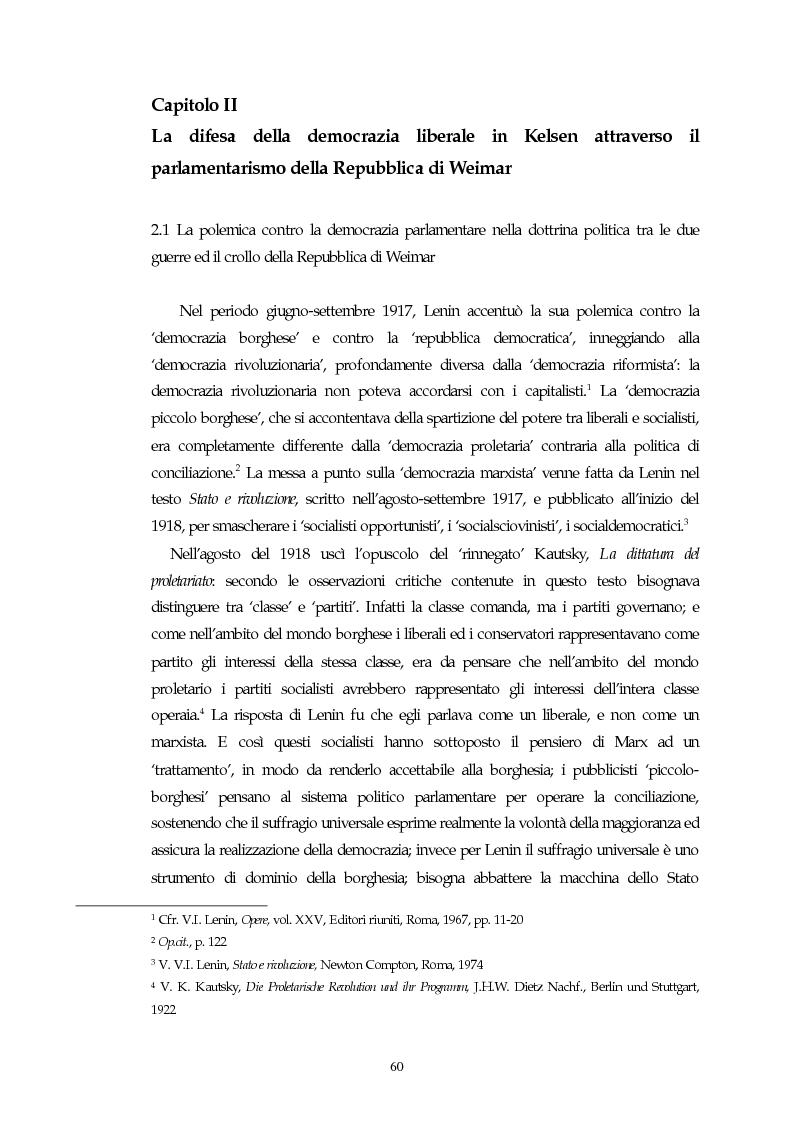 Anteprima della tesi: Il concetto di parlamentarismo nella teoria dello Stato kelseniana: la difesa della democrazia negli scritti politici 1920-1933, Pagina 1