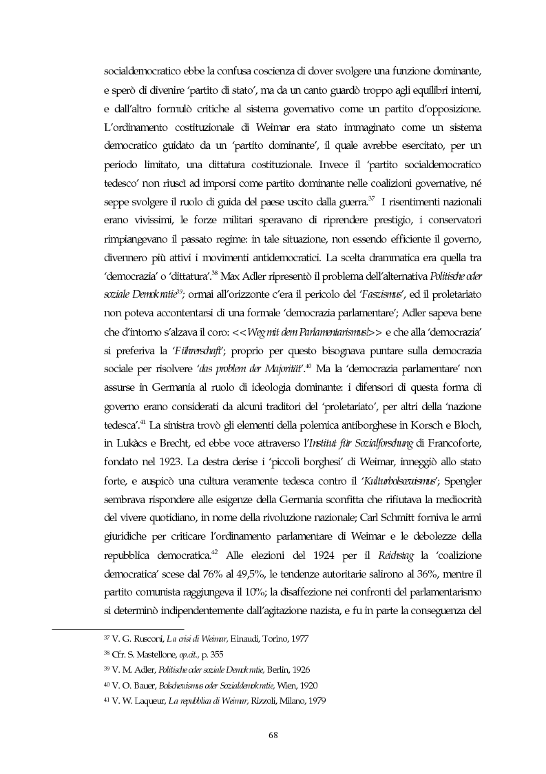 Anteprima della tesi: Il concetto di parlamentarismo nella teoria dello Stato kelseniana: la difesa della democrazia negli scritti politici 1920-1933, Pagina 9