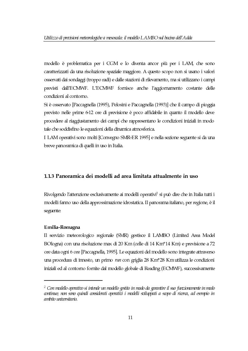 Anteprima della tesi: Utilizzo di previsioni meteorologiche a mesoscala: il modello Lambo sul bacino dell'Adda, Pagina 11