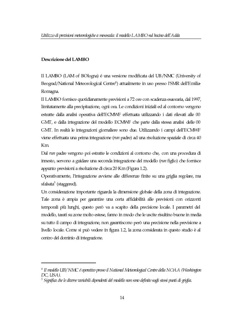 Anteprima della tesi: Utilizzo di previsioni meteorologiche a mesoscala: il modello Lambo sul bacino dell'Adda, Pagina 14