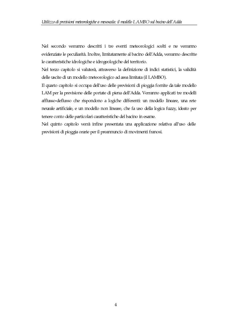Anteprima della tesi: Utilizzo di previsioni meteorologiche a mesoscala: il modello Lambo sul bacino dell'Adda, Pagina 4