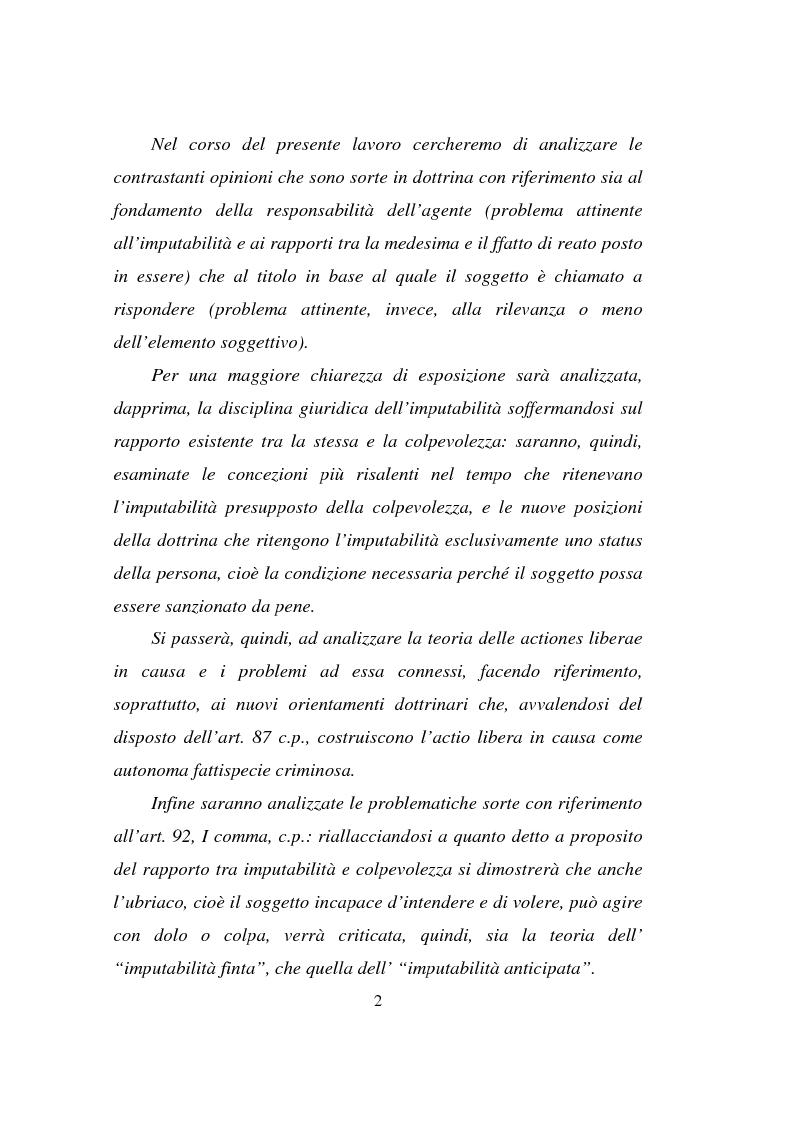 Anteprima della tesi: Actiones liberae in causa, Pagina 2