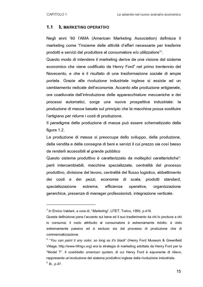 Anteprima della tesi: Customer Relationship Management. Caratteristiche e implementazione di una strategia cliente-centrica, Pagina 7