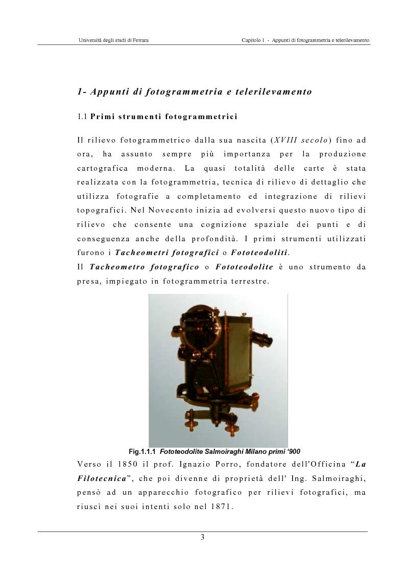 Anteprima della tesi: Georeferenziazione automatica di immagini satellitari ad alta risoluzione, Pagina 3