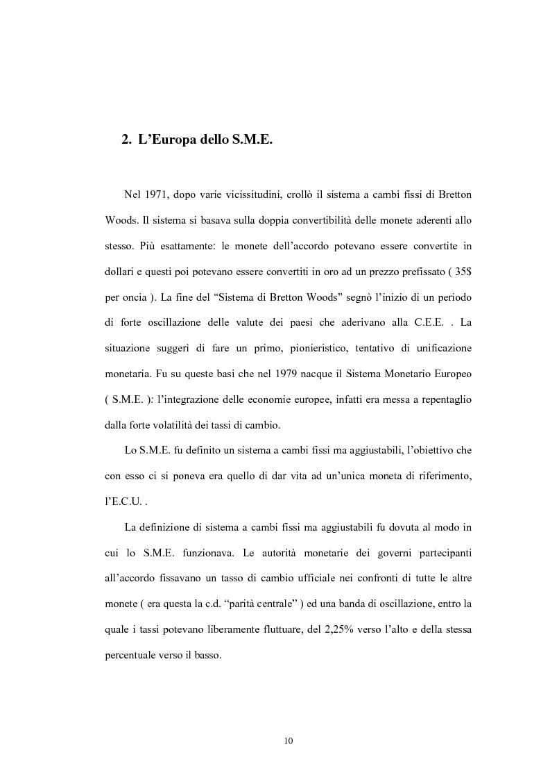 Anteprima della tesi: L'Unione economica e monetaria: dalla teoria delle aree valutarie ottimali alle politiche economiche europee, Pagina 10