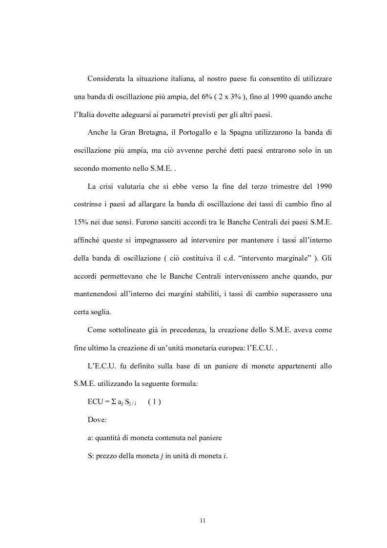 Anteprima della tesi: L'Unione economica e monetaria: dalla teoria delle aree valutarie ottimali alle politiche economiche europee, Pagina 11