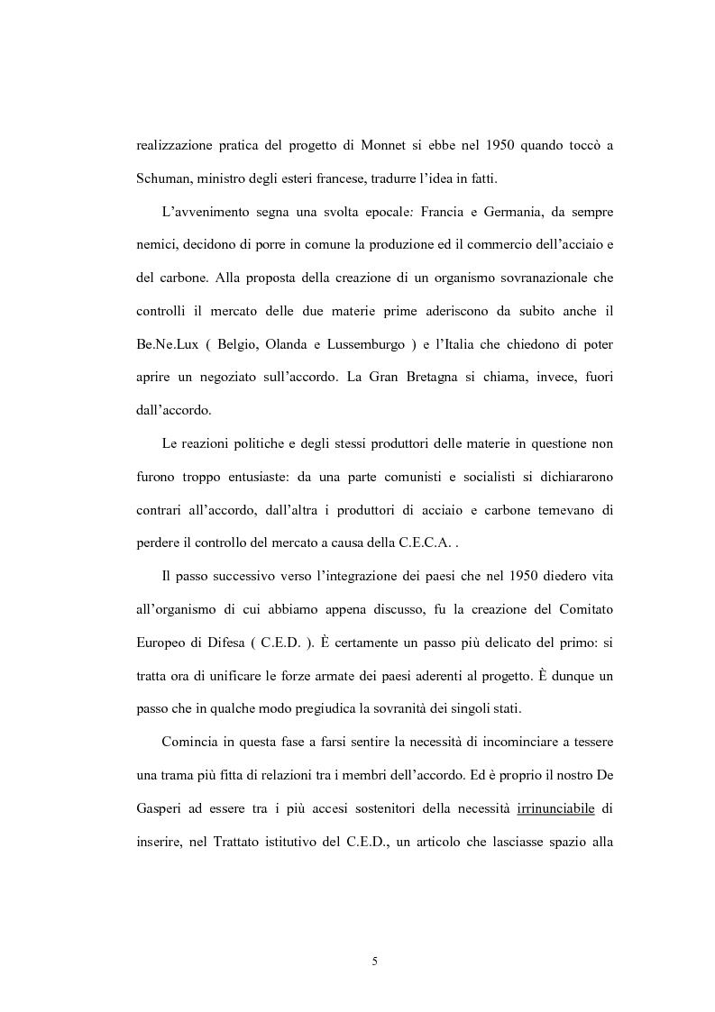 Anteprima della tesi: L'Unione economica e monetaria: dalla teoria delle aree valutarie ottimali alle politiche economiche europee, Pagina 5
