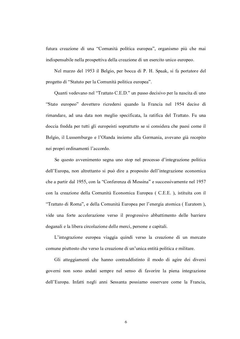 Anteprima della tesi: L'Unione economica e monetaria: dalla teoria delle aree valutarie ottimali alle politiche economiche europee, Pagina 6