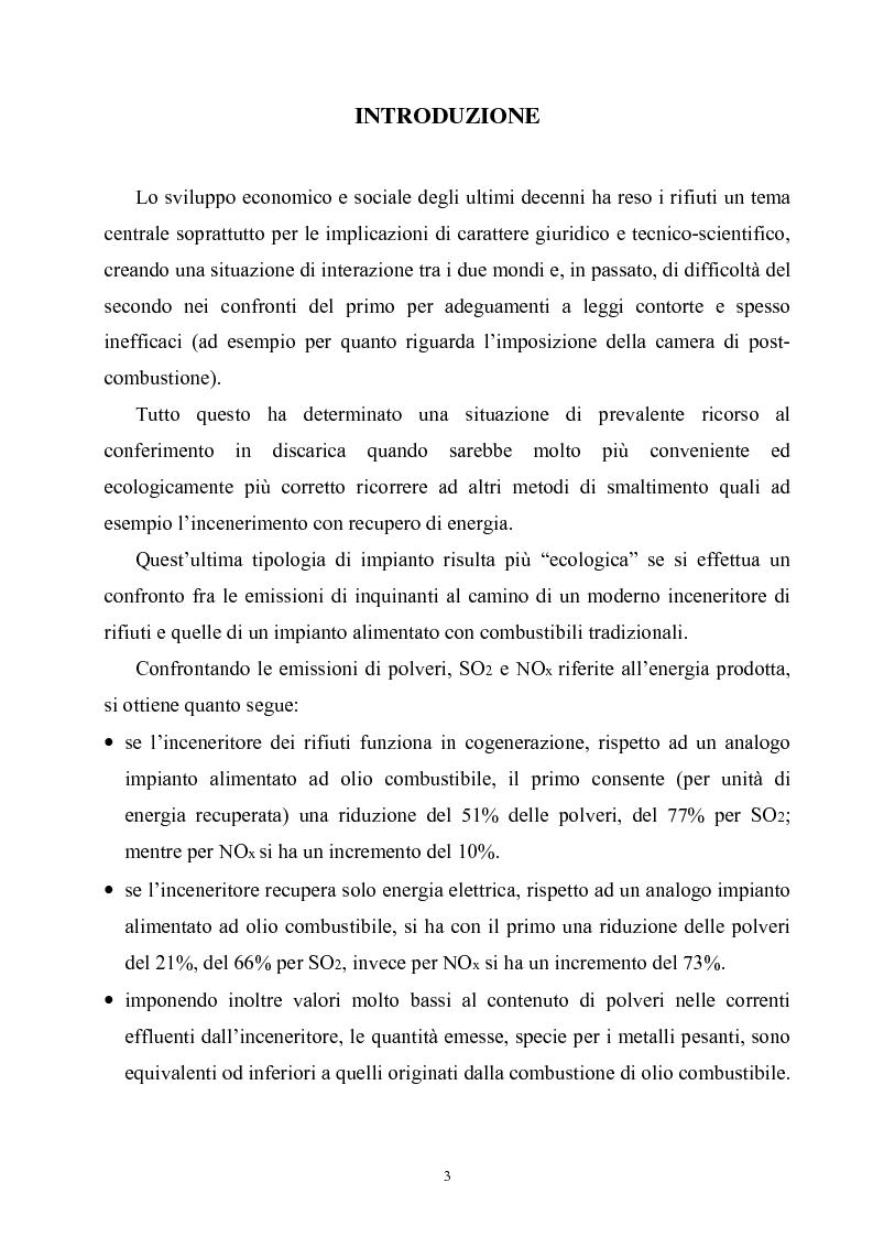 Anteprima della tesi: Termoutilizzazione dei rifiuti: ottimizzazione e controllo di processo, Pagina 1