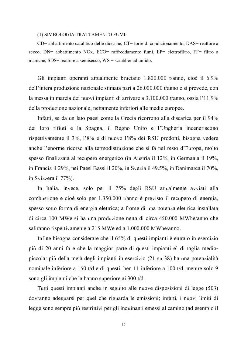 Anteprima della tesi: Termoutilizzazione dei rifiuti: ottimizzazione e controllo di processo, Pagina 13