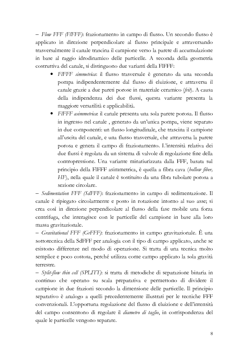 Anteprima della tesi: Analisi di distribuzione dimensionale e di massa di amido di cereali in frazionamento in campo-flusso (FFF) e suo interesse in campo agro-alimentare, Pagina 5