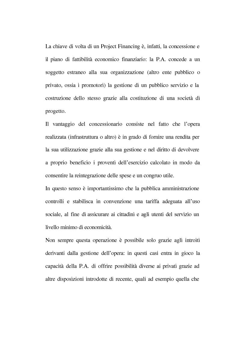 Anteprima della tesi: La tecnica del project financing: quadro normativo ed applicazioni – La realizzazione di un impianto Cdr, Pagina 10