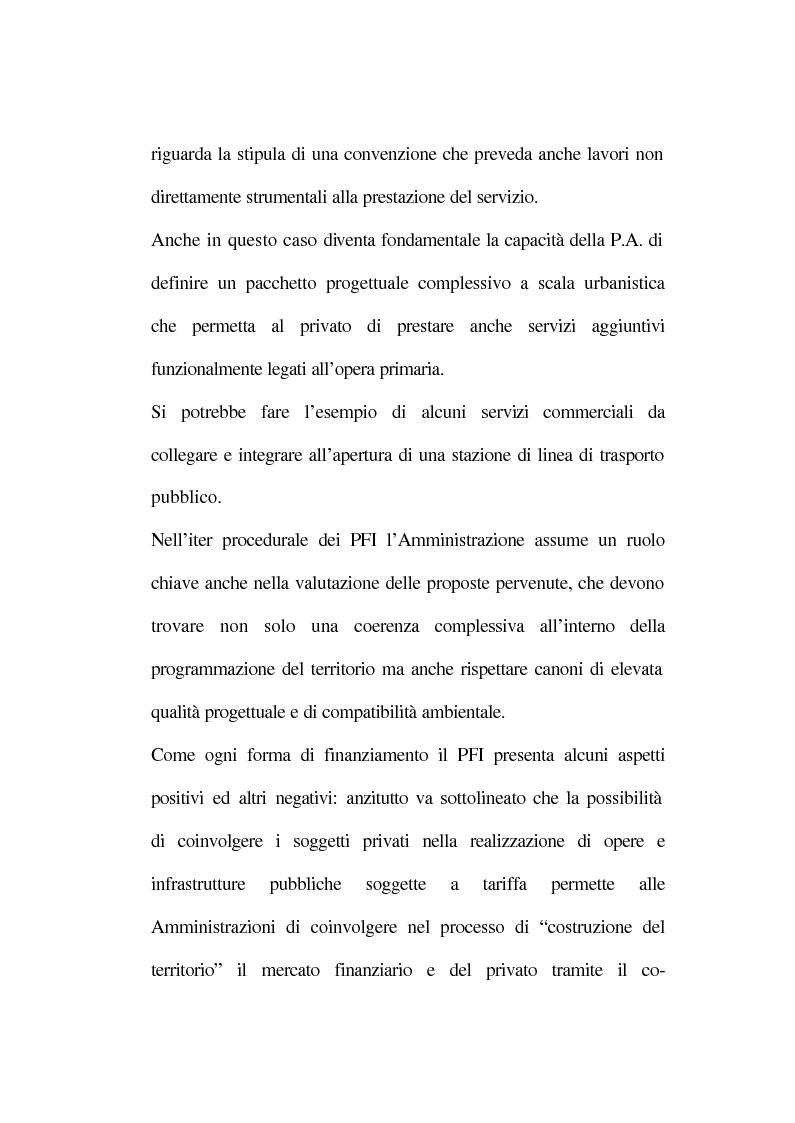 Anteprima della tesi: La tecnica del project financing: quadro normativo ed applicazioni – La realizzazione di un impianto Cdr, Pagina 11