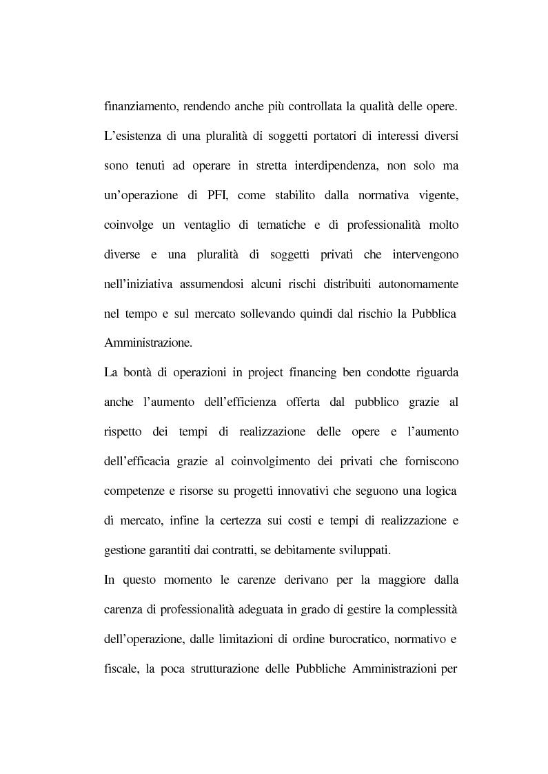 Anteprima della tesi: La tecnica del project financing: quadro normativo ed applicazioni – La realizzazione di un impianto Cdr, Pagina 12