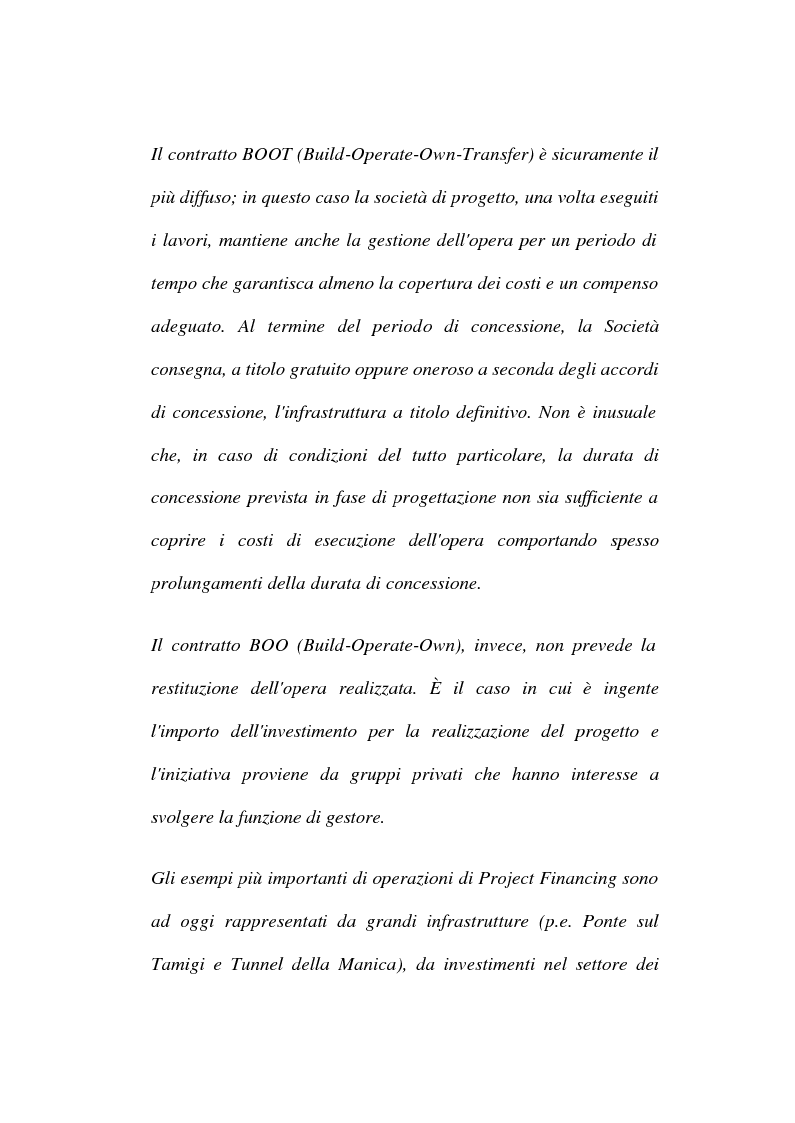 Anteprima della tesi: La tecnica del project financing: quadro normativo ed applicazioni – La realizzazione di un impianto Cdr, Pagina 3