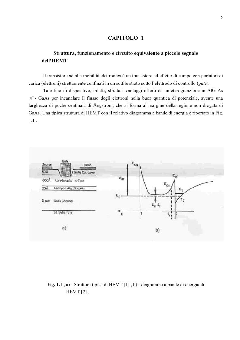 Anteprima della tesi: Analisi delle prestazioni di rumore di HEMT per microonde al variare della temperatura e della polarizzazione mediante modellistica, Pagina 2