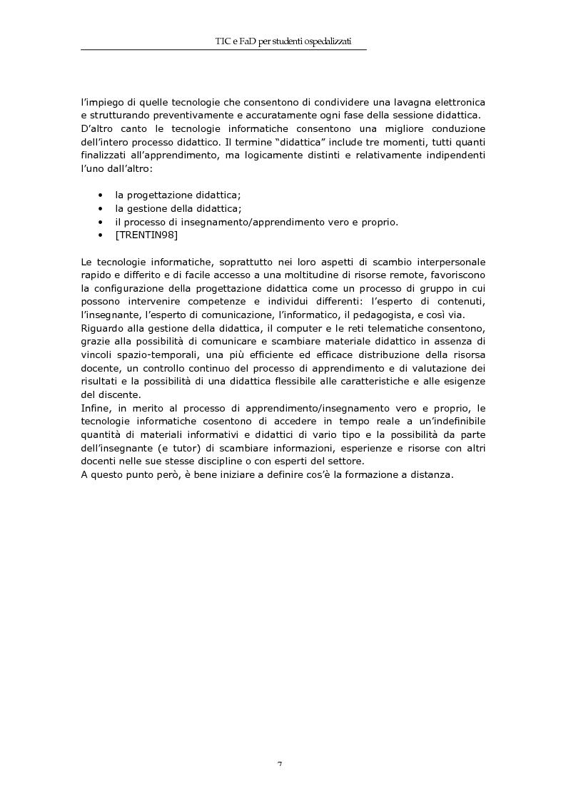 Anteprima della tesi: TIC e FaD per studenti ospedalizzati, Pagina 5