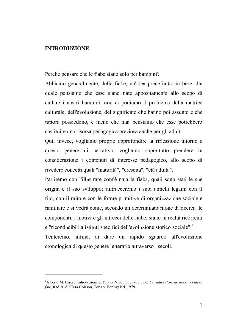 Anteprima della tesi: La fiaba nella cura di sè, Pagina 1