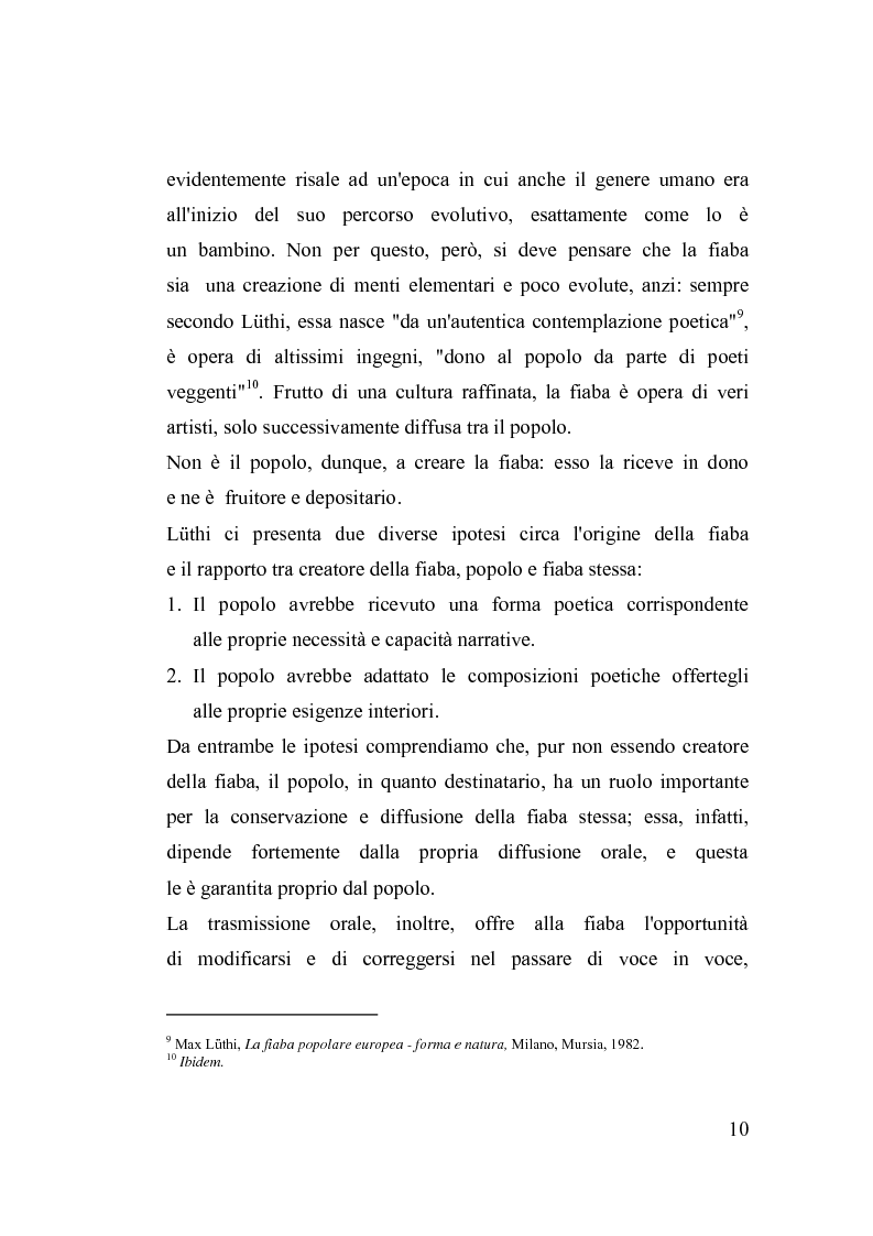 Anteprima della tesi: La fiaba nella cura di sè, Pagina 10