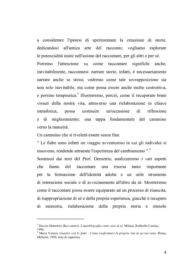 Anteprima della tesi: La fiaba nella cura di sè, Pagina 4
