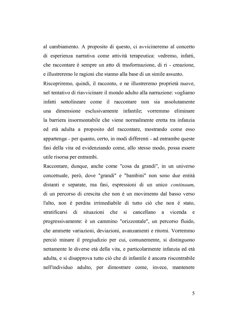 Anteprima della tesi: La fiaba nella cura di sè, Pagina 5