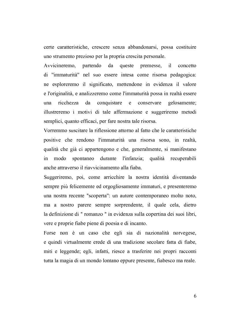 Anteprima della tesi: La fiaba nella cura di sè, Pagina 6