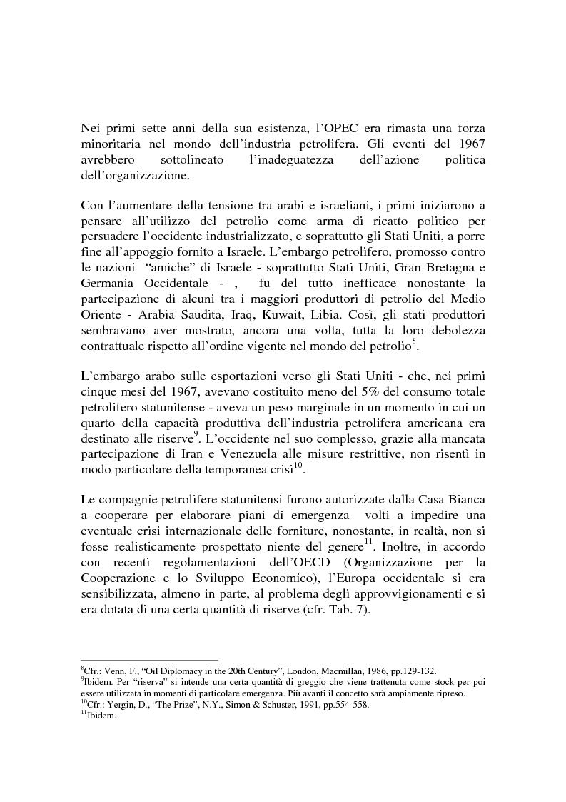 Anteprima della tesi: Le origini del primo shock petrolifero, Pagina 10