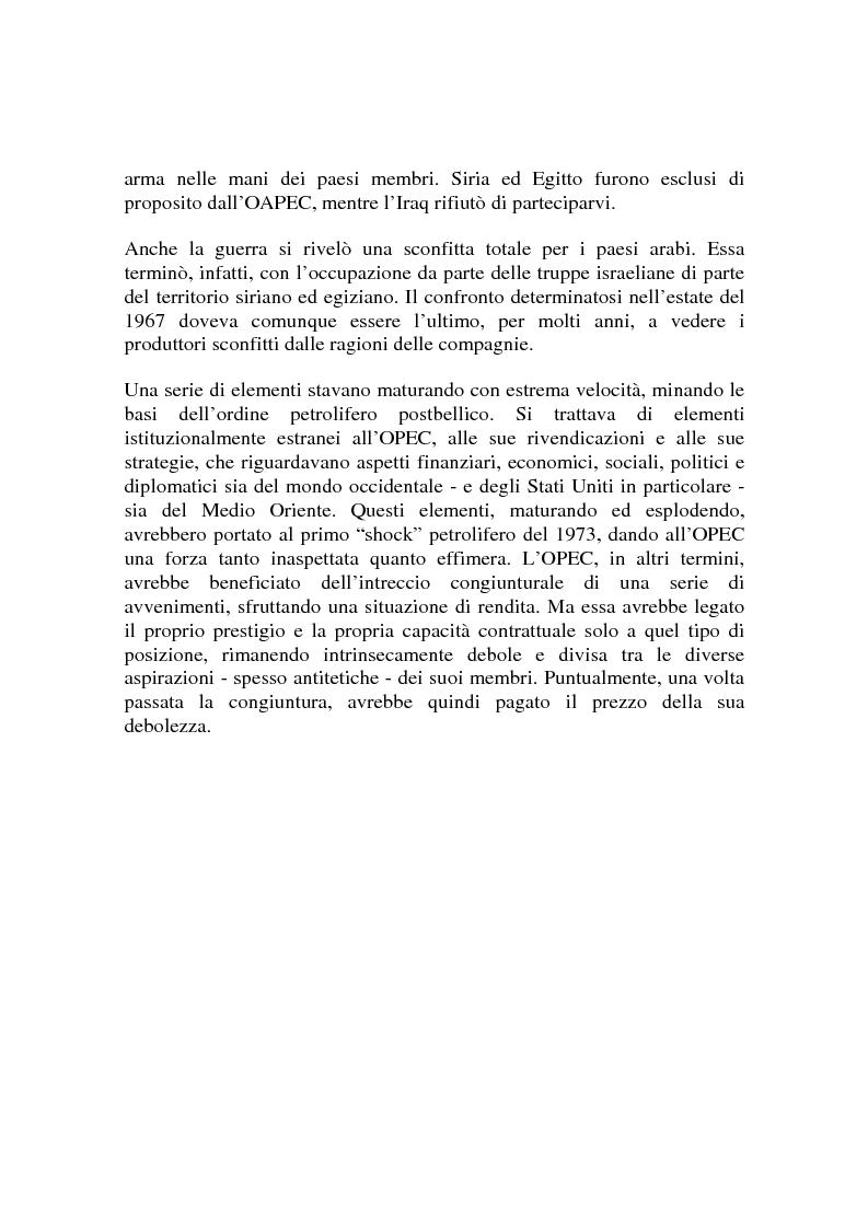 Anteprima della tesi: Le origini del primo shock petrolifero, Pagina 12