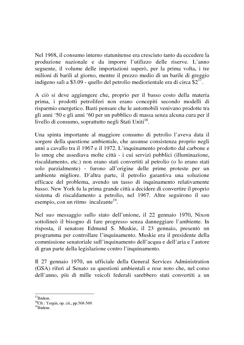 Anteprima della tesi: Le origini del primo shock petrolifero, Pagina 14