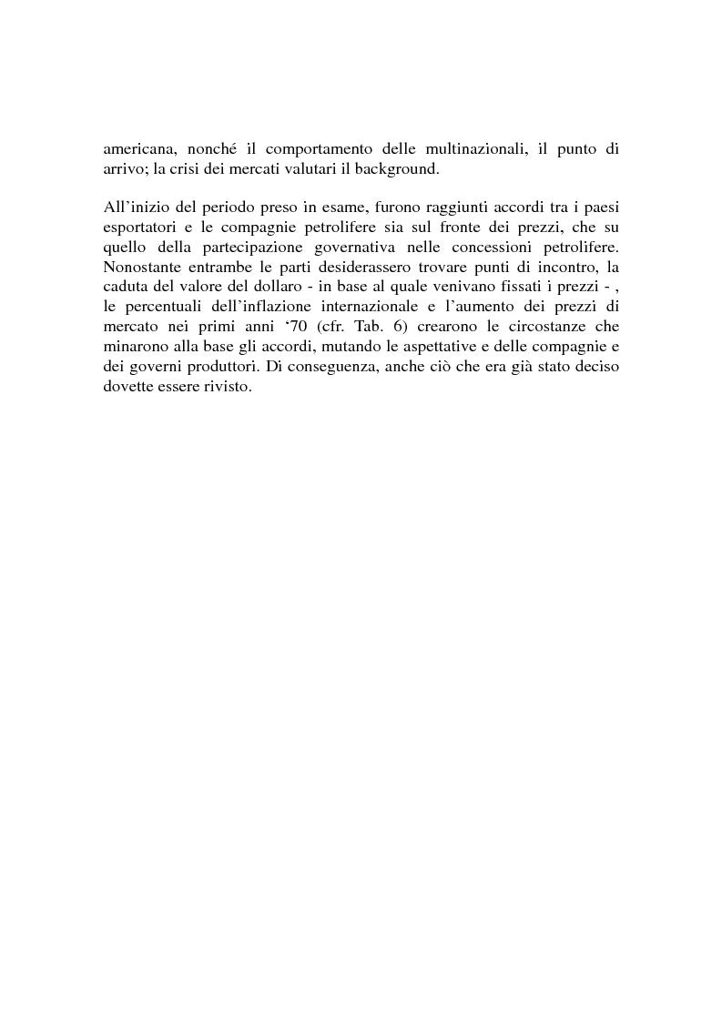 Anteprima della tesi: Le origini del primo shock petrolifero, Pagina 6