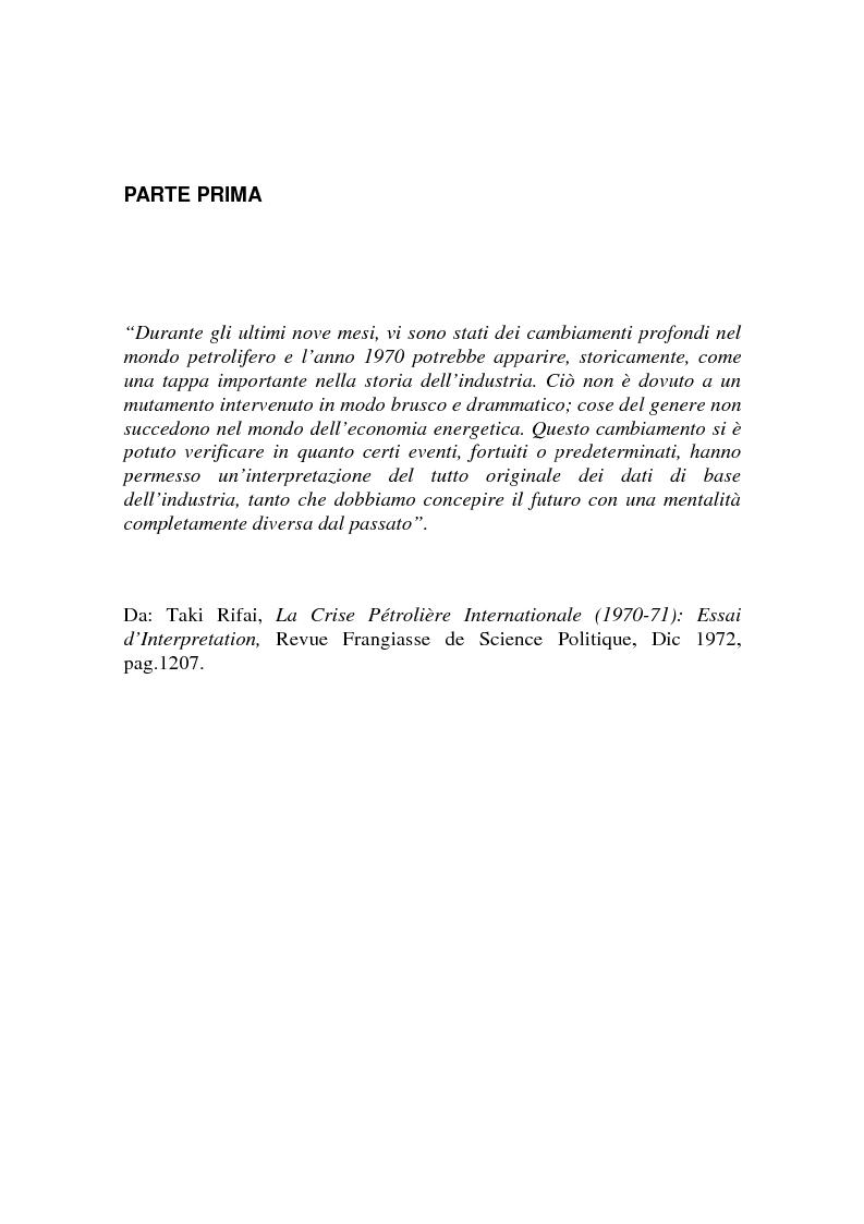 Anteprima della tesi: Le origini del primo shock petrolifero, Pagina 9