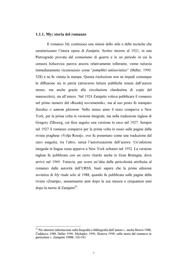Anteprima della tesi: Utopia e antiutopia socialista (''My''di E.I. Zamjatin e ''Krasnaja zvezda''di A.A. Bogdanov), Pagina 13