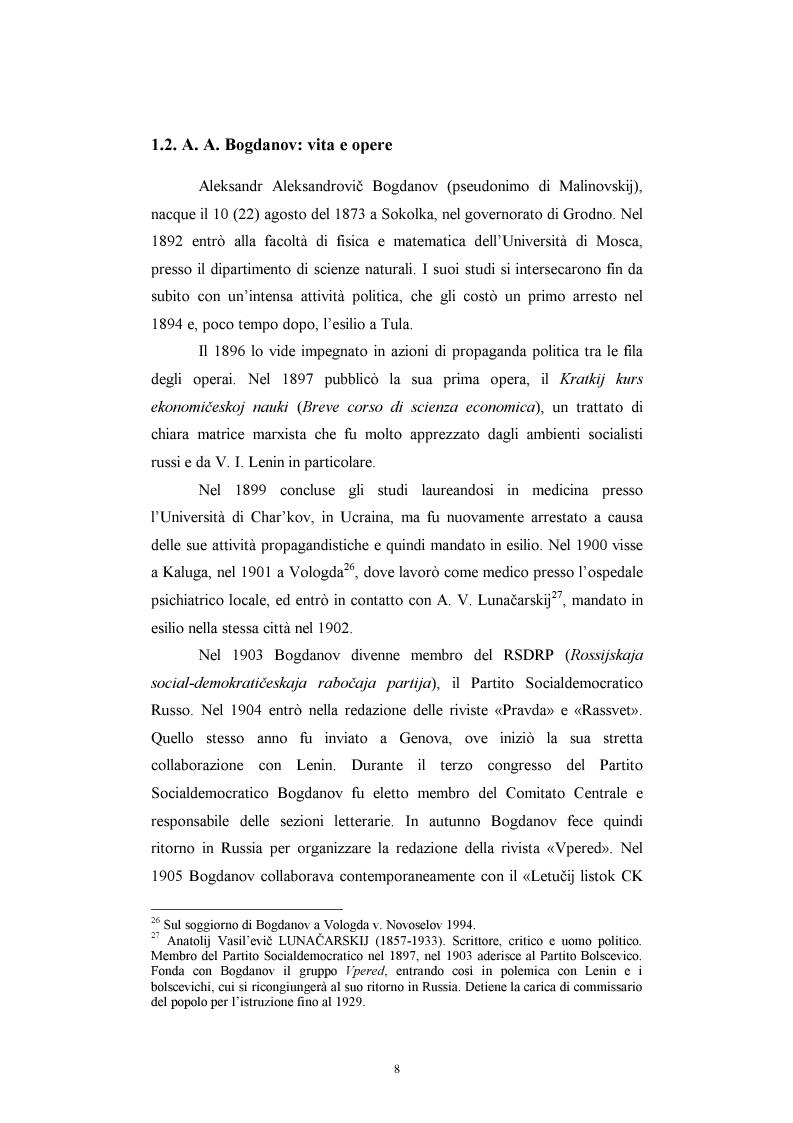 Anteprima della tesi: Utopia e antiutopia socialista (''My''di E.I. Zamjatin e ''Krasnaja zvezda''di A.A. Bogdanov), Pagina 14