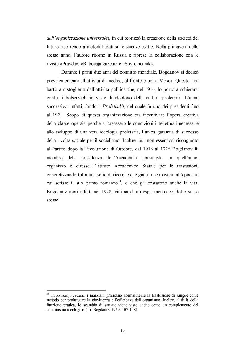 Anteprima della tesi: Utopia e antiutopia socialista (''My''di E.I. Zamjatin e ''Krasnaja zvezda''di A.A. Bogdanov), Pagina 16