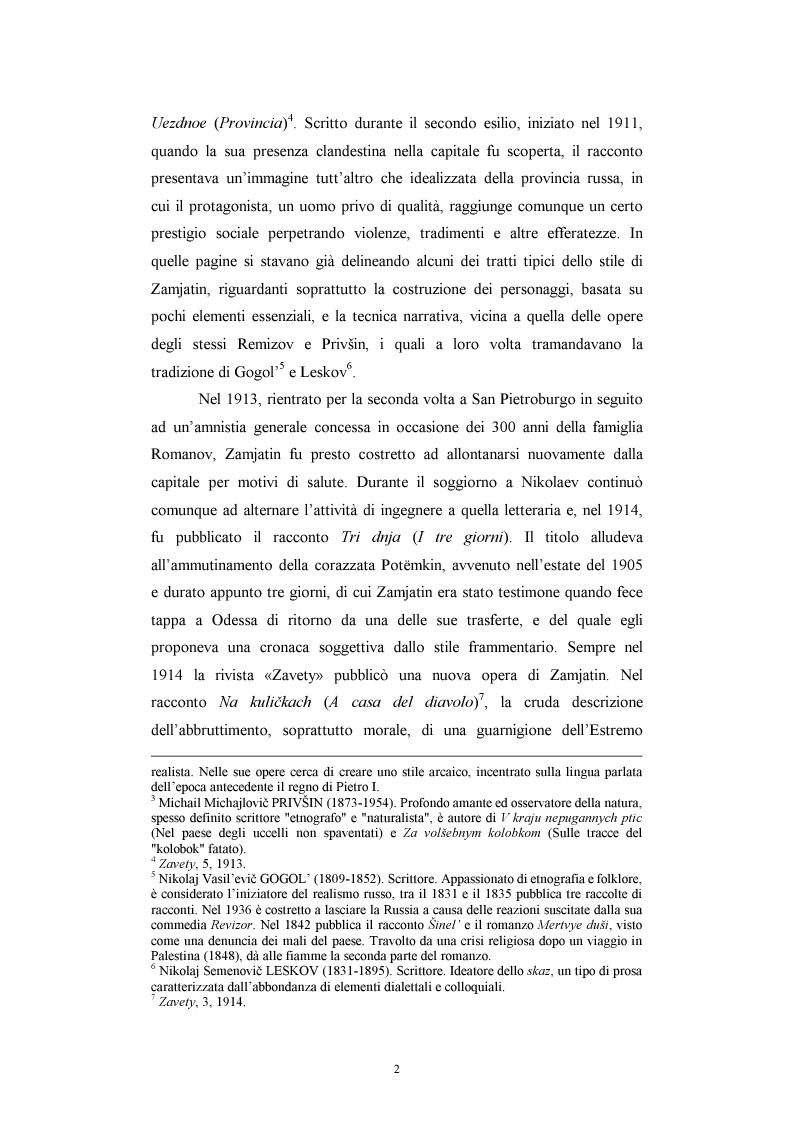 Anteprima della tesi: Utopia e antiutopia socialista (''My''di E.I. Zamjatin e ''Krasnaja zvezda''di A.A. Bogdanov), Pagina 8