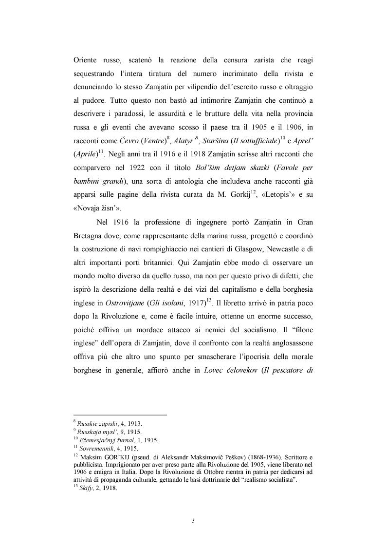 Anteprima della tesi: Utopia e antiutopia socialista (''My''di E.I. Zamjatin e ''Krasnaja zvezda''di A.A. Bogdanov), Pagina 9