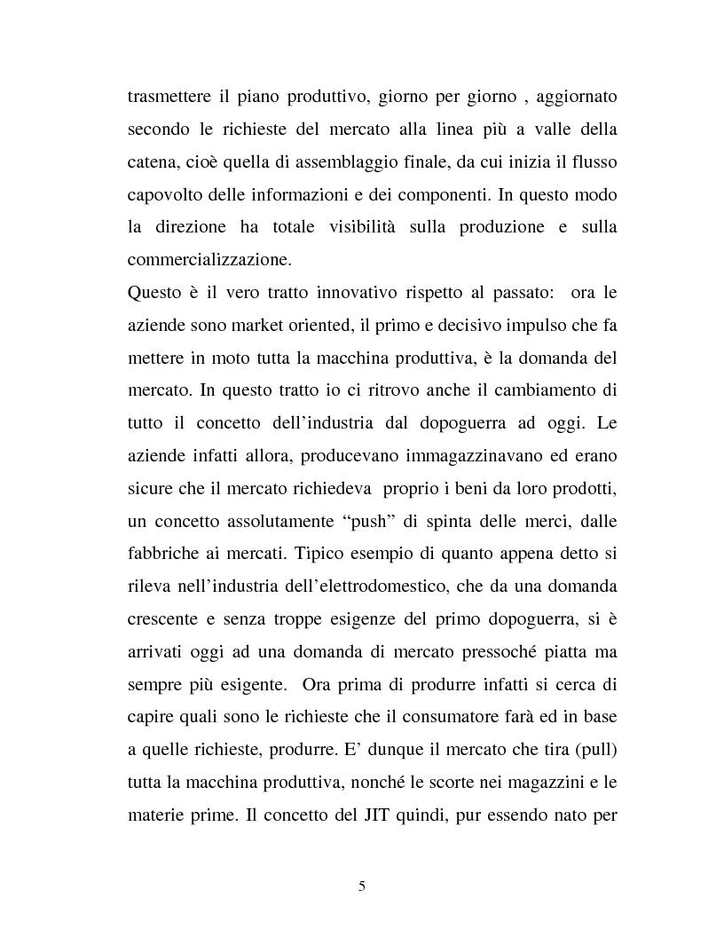 Anteprima della tesi: Come il just in time e la supply chain stanno contribuendo alla riduzione dei costi e al recupero dell'efficienza in ottica della qualità totale, Pagina 4
