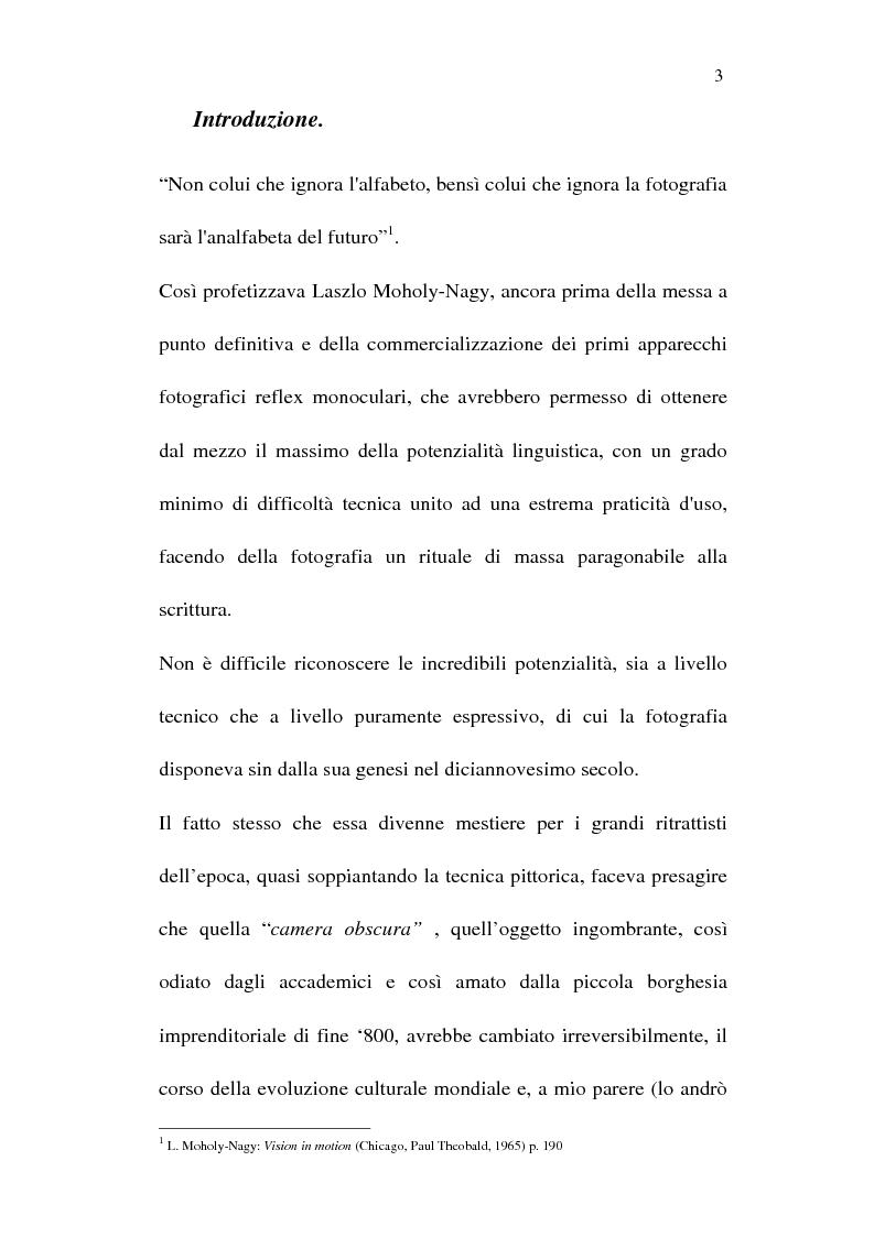 Anteprima della tesi: Fotografia è design. Un laboratorio della visione, dalle origini alle espressioni attuali, Pagina 1