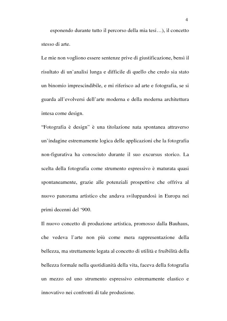 Anteprima della tesi: Fotografia è design. Un laboratorio della visione, dalle origini alle espressioni attuali, Pagina 2