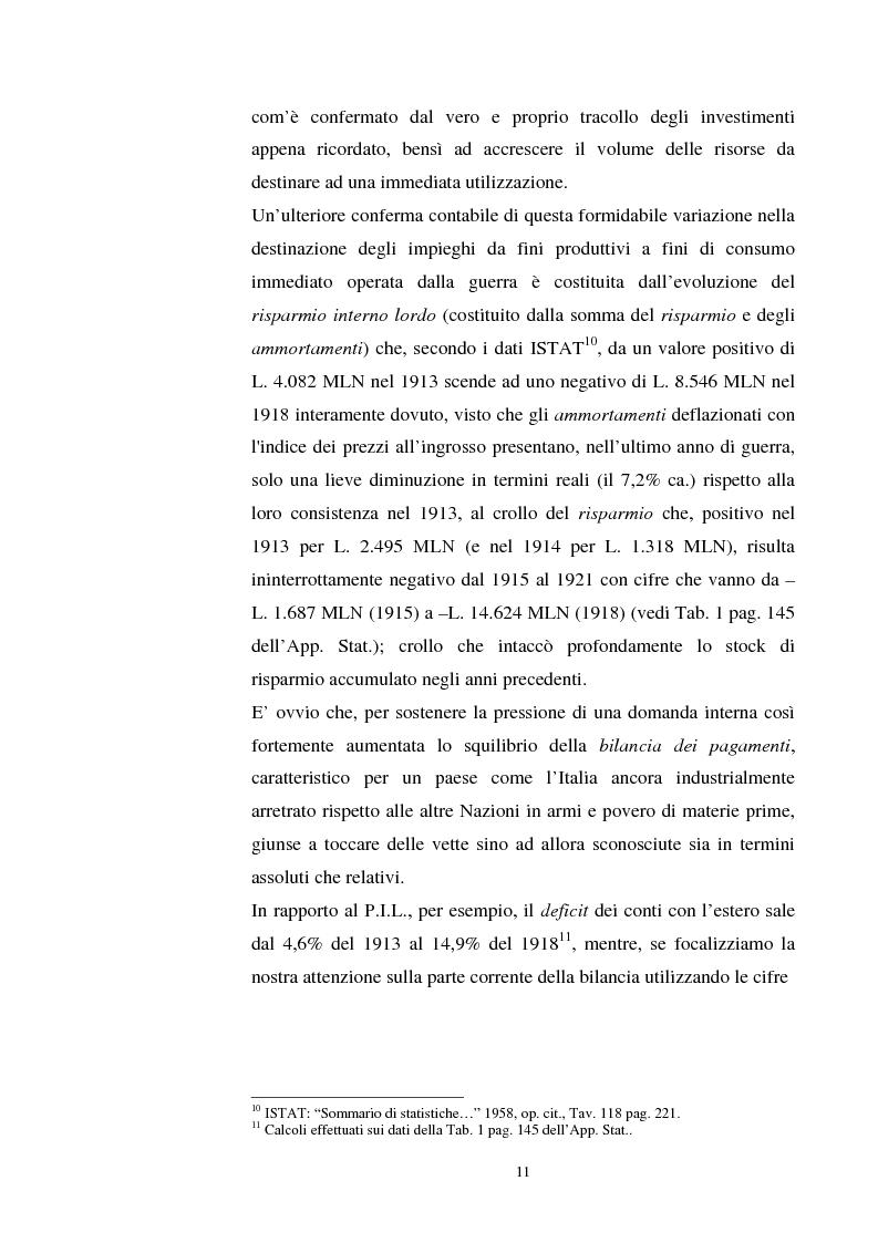 Anteprima della tesi: L'evoluzione del debito pubblico italiano dalla fine della prima guerra mondiale al consolidamento del 1926 ed i suoi effetti macroeconomici e redistributivi, Pagina 11