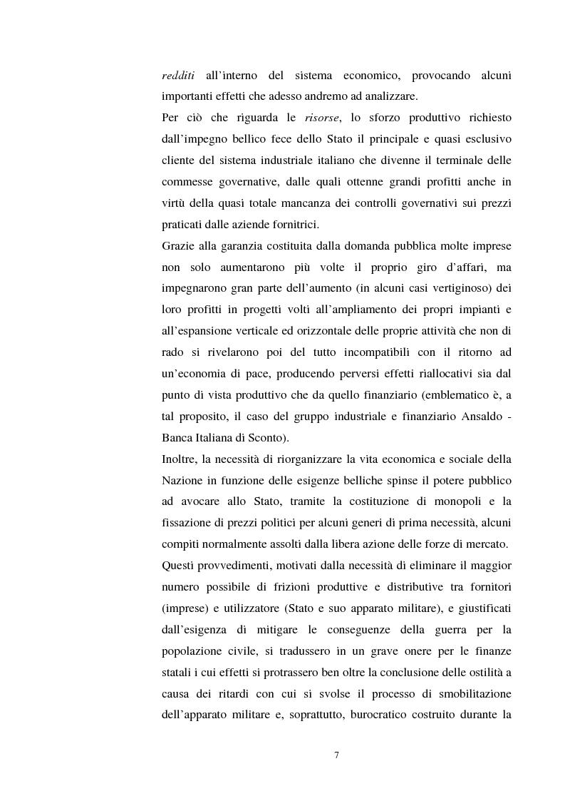 Anteprima della tesi: L'evoluzione del debito pubblico italiano dalla fine della prima guerra mondiale al consolidamento del 1926 ed i suoi effetti macroeconomici e redistributivi, Pagina 7