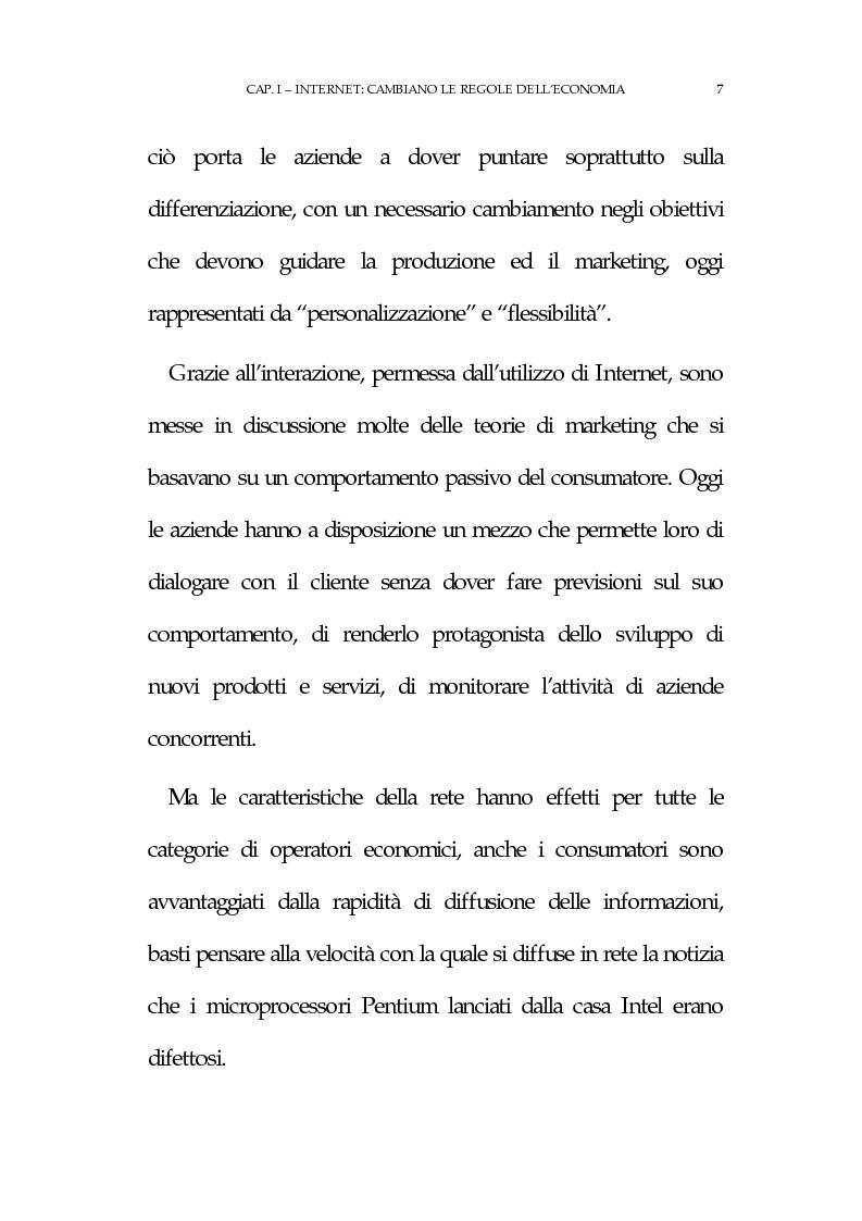 Anteprima della tesi: La new economy: metodi e tecniche per lo sviluppo del commercio elettronico, Pagina 11
