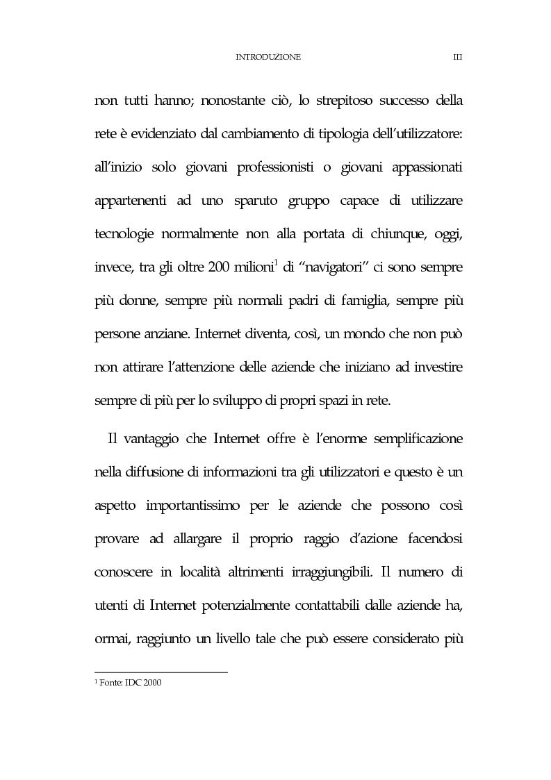 Anteprima della tesi: La new economy: metodi e tecniche per lo sviluppo del commercio elettronico, Pagina 3