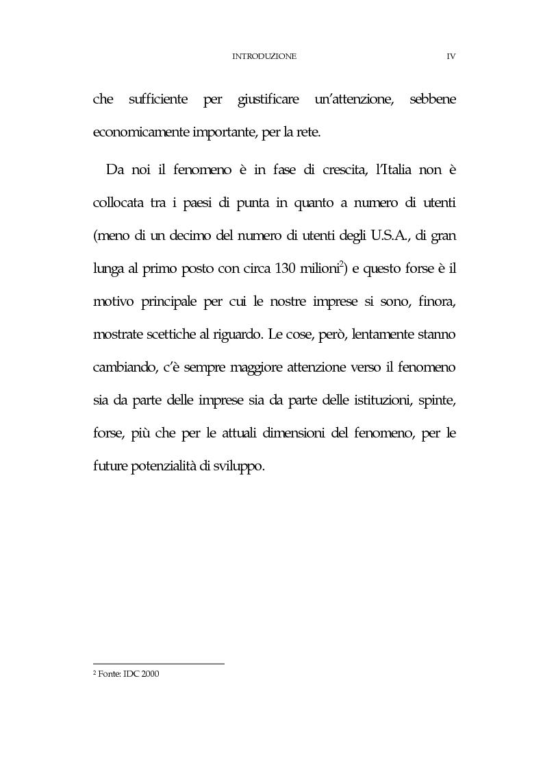 Anteprima della tesi: La new economy: metodi e tecniche per lo sviluppo del commercio elettronico, Pagina 4