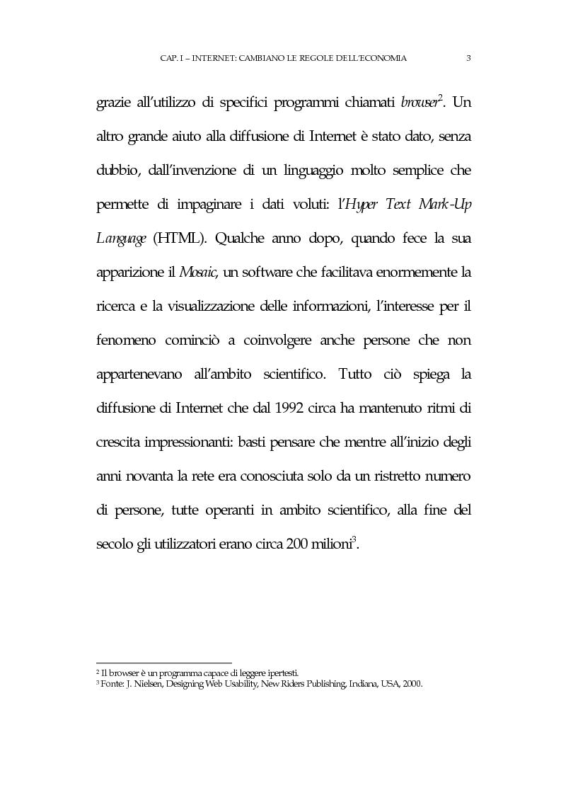 Anteprima della tesi: La new economy: metodi e tecniche per lo sviluppo del commercio elettronico, Pagina 7